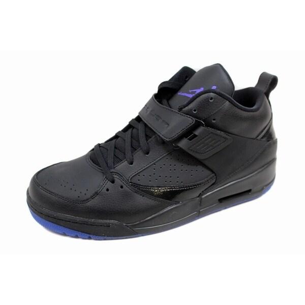 Nike Men's Air Jordan Flight 45 Premium Black/Dark Concord 667400-015