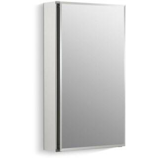 """Kohler K-CB-CLC1526FS 15"""" x 26"""" Single Door Reversible Hinge Frameless Mirrored Medicine Cabinet - silver aluminum - N/A"""