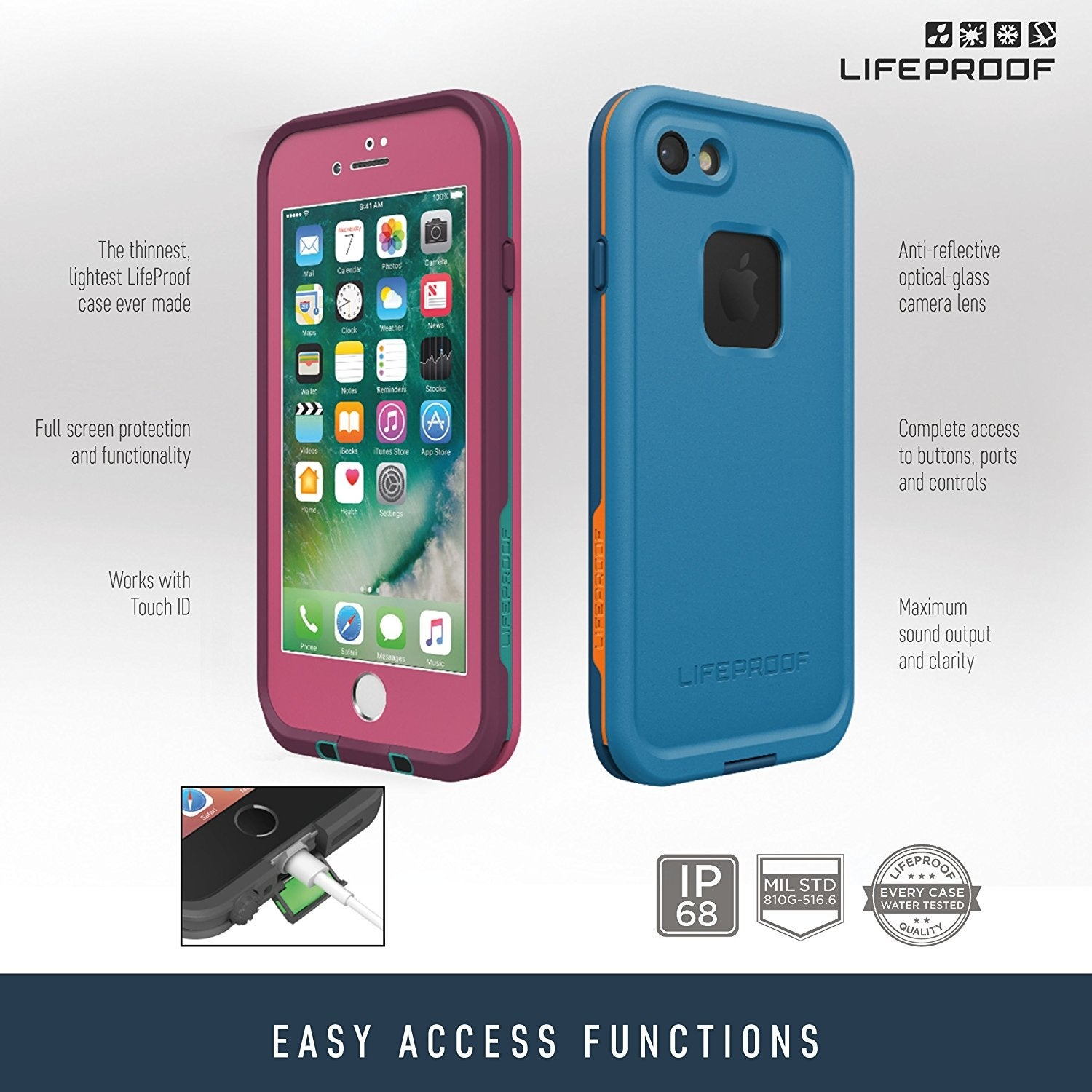 new styles eb968 9ae48 Lifeproof FRE SERIES Waterproof Case for iPhone 7 - Sunset Bay (Light Teal)