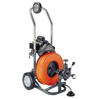 General Pipe Cleaners PT3D Sewerooter T-3 Medium Line Motorized Drain Cleaner with 100 Ft. Cable and Power Cable Feed