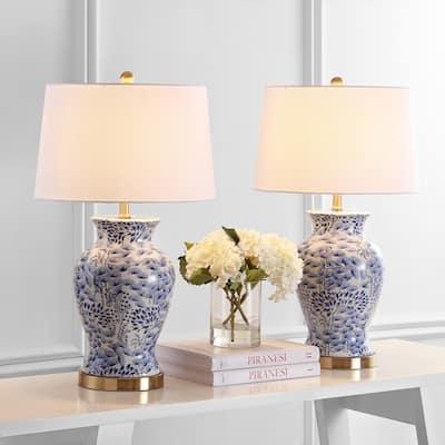 "SAFAVIEH Lighting 28"" Alona LED Table Lamp (Set of 2) - 16""x16""x27.5"""