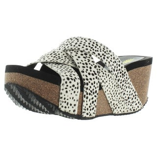 Volatile Tabor Women's Wedge Cork Sandals Pony Hair