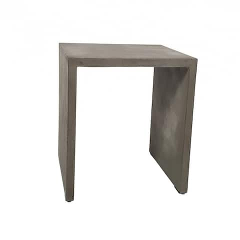 Contemporary Parsons Style Concrete End Table, Gray