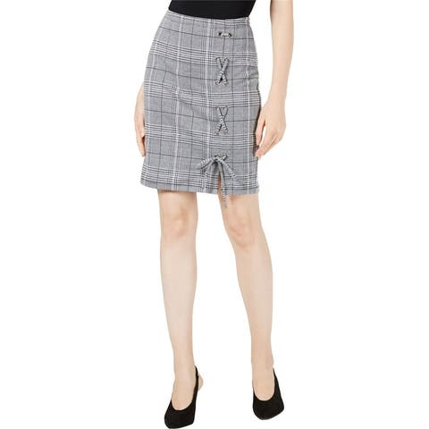 Project 28 Womens Lace-Up Pencil Skirt