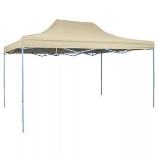 vidaXL Foldable Tent Pop Up 14.8'x9.8' Cream White Waterproof Outdoor Marquee