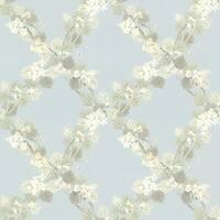 Brewster 344-68757 Delphia Blue Jasmine Trellis Wallpaper - N/A