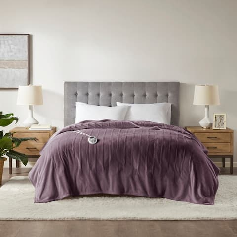 Plush Heated Blanket by Serta