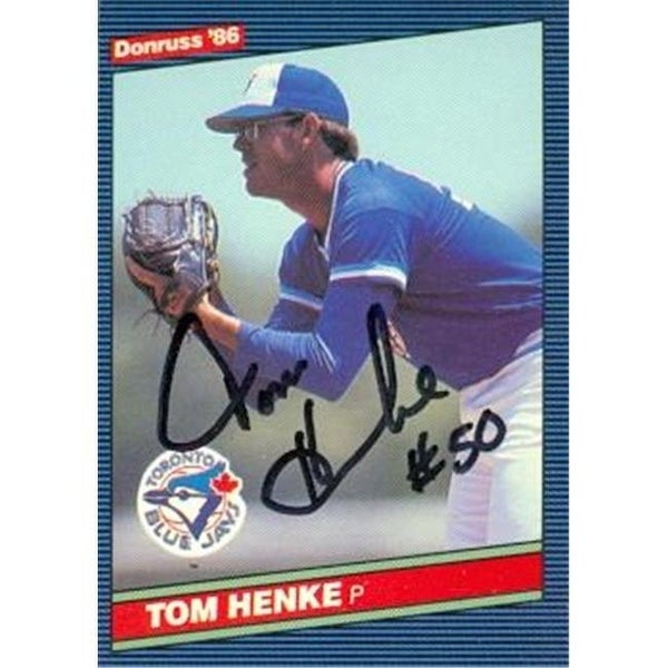 ccee596d0 Shop Tom Henke Autographed Baseball Card Toronto Blue Jays 1986 Donruss -  Free Shipping On Orders Over  45 - Overstock - 23909145