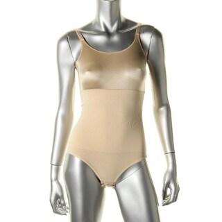 Maidenform Womens Bodysuit Satin Trim Slimming - M