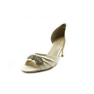 Ivanka Trump Nanci Peep-Toe Canvas Heels