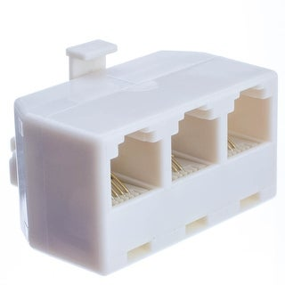 Offex Telephone Jack Line Separator, RJ11/RJ12 Male to 3 RJ11/RJ12 Female, Line 1, Line 2, Line 1 and 2