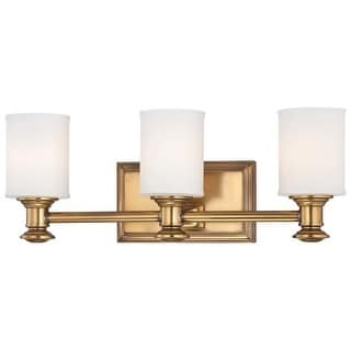 minka lavery 3 light bathroom vanity light with etched opal shade from the harbour point