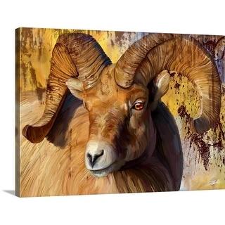 """Big Horn"" Canvas Wall Art"