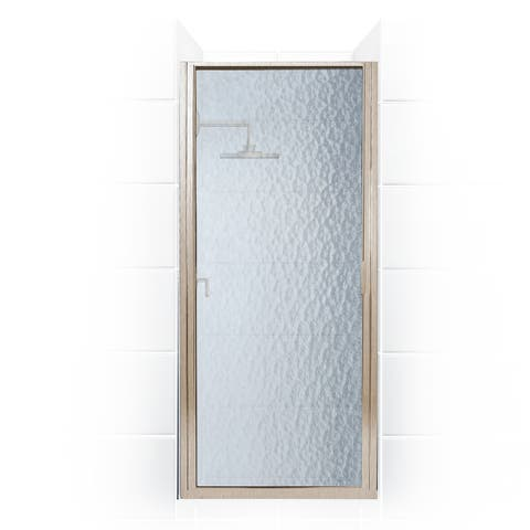 """Coastal Shower Doors P36.70-A Paragon Series 36"""" x 69"""" Framed Continuous Hinge Shower Door with Obscure Glass"""