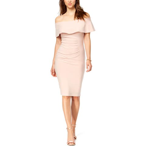 Xscape Womens Sheath Dress Off-The-Shoulder Cocktail
