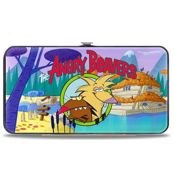 The Angry Beavers Pose Dam House Hinged Wallet - One Size Fits most