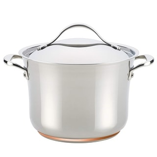 Link to Anolon Nouvelle Copper Stainless Steel 6.5-Quart Covered Stockpot Similar Items in Cookware