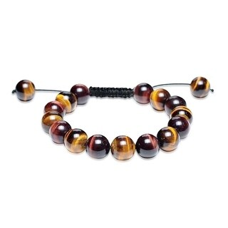 Bling Jewelry Shamballa Inspired Bracelet Imitation Tiger Eye Round Beads