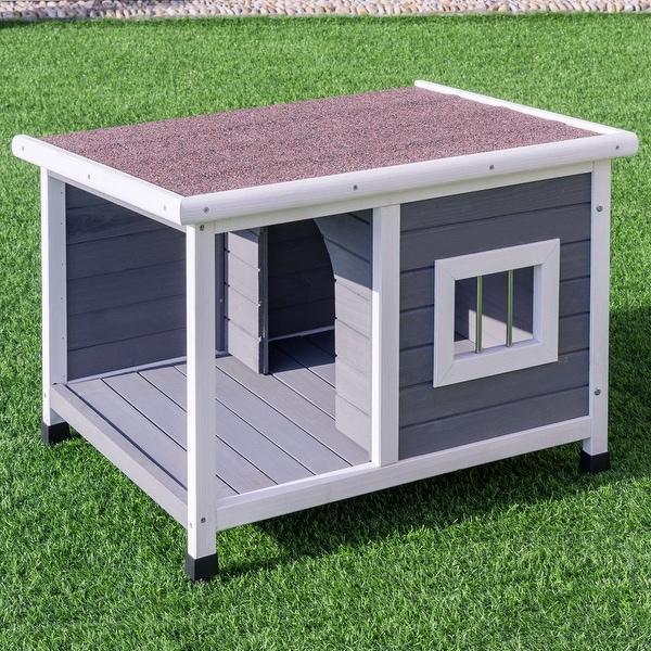 Shop Gymax Wooden Pet House Dog Cat Puppy Room Bed