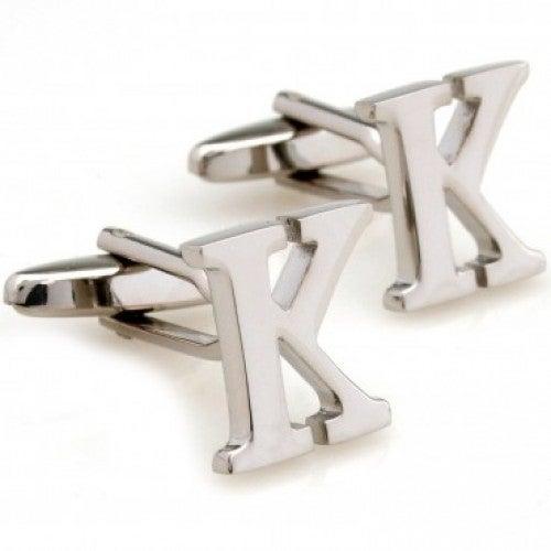 Letter K Alphabet Initial Cufflinks