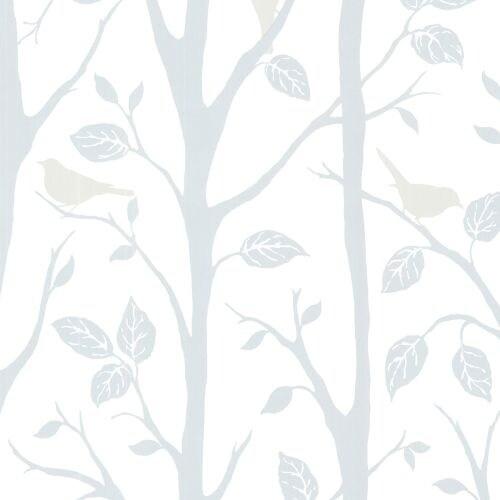 Brewster 2532-20444 Corwin Blue Bird Branches Wallpaper
