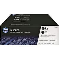 HP CE285D 85A 2-Pack Black Toner Cartridge