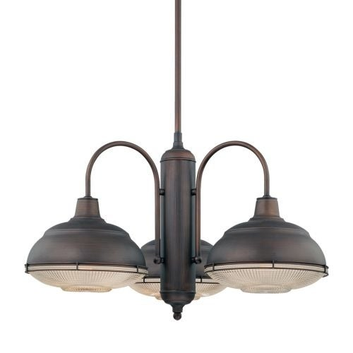 Millennium Lighting 5333 Neo-Industrial 3 Light Single Tier Chandelier