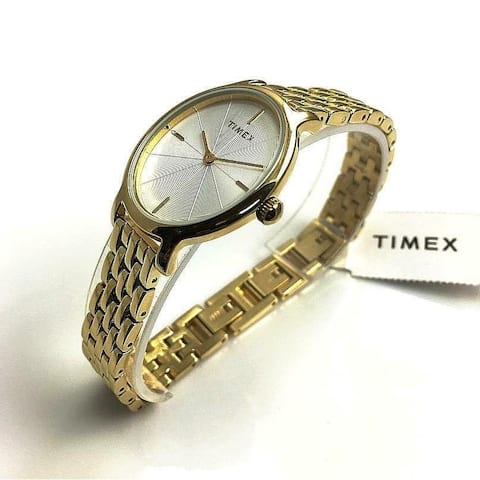 Timex Women's TW2R94100 'Milano' Gold-Tone Stainless Steel Watch - Silver