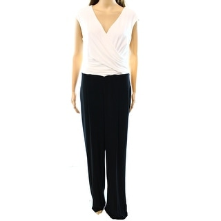 Lauren Ralph Lauren NEW Black White Colorblock Women's 12 Jumpsuit
