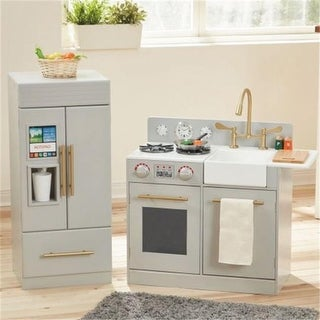 Urban Adventure Play Kitchen with Ice Maker Function, Grey