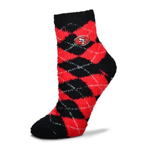 San Francisco 49ers Argyle Sleep Socks-Medium