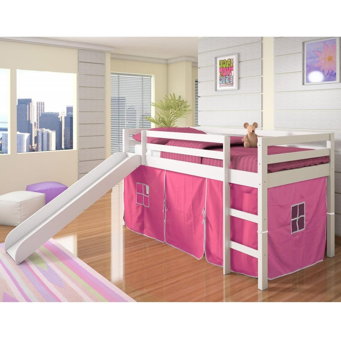 Donco Kids Twin Size Tent Loft Bed