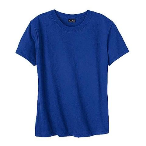 Hanes Women's Classic-Fit Jersey T-Shirt 4.5 oz (Set of 4) Deep Royal