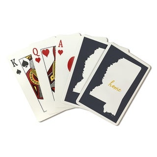 Mississippi Home State White on Gray - LP Artwork (Poker Playing Cards Deck)