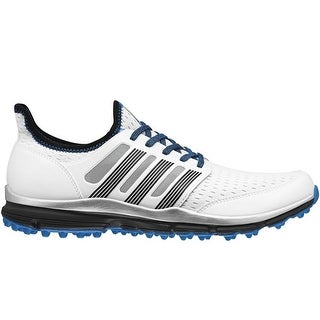Adidas Men's Climacool White/Dark Silver/Bright Blue Golf Shoes Q44598