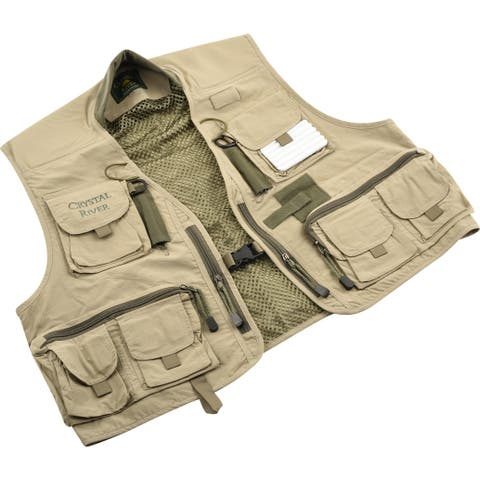Crystal river cr/fv1-2xl c/r utility vest tan 2xl
