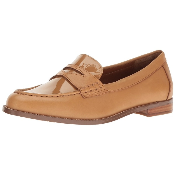 LAUREN by Ralph Lauren Womens Barrett-Sh Leather Closed Toe Loafers