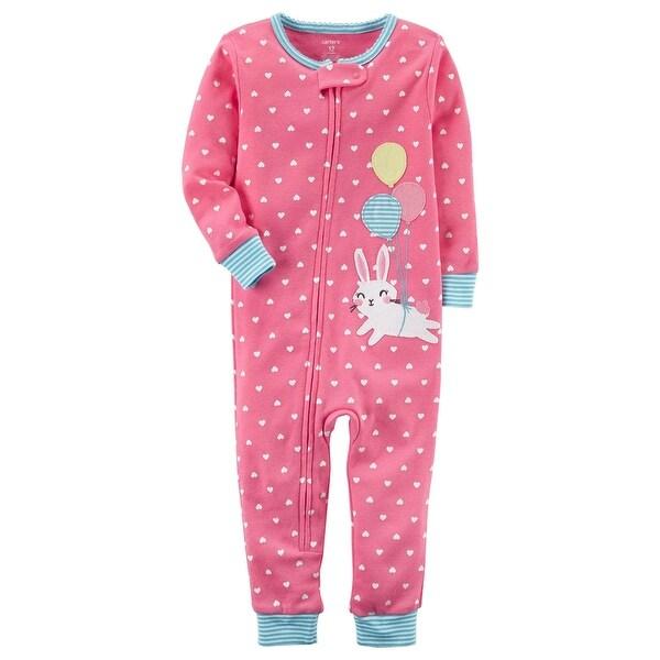 238acd53a Shop Carter s Baby Girls  1-Piece Snug Fit Cotton Footless PJs