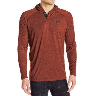 Under Armour NEW Heather Red Mens XL Pullover Henley Athletic Hoodie