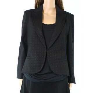Amanda + Chelsea NEW Black Womens Size 8 Notch-Collar Seamed Blazer