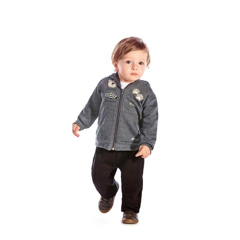 Baby Boy Outfit Hoodie Jacket and Pants Winter Set 2pc Pulla Bulla 3-12 Months