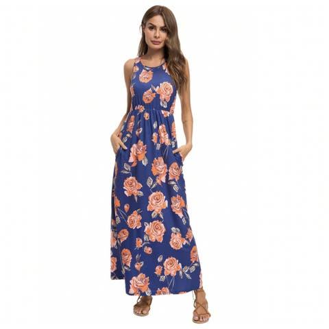 Lilly Posh Bold Pattern Maxi Floral Dress
