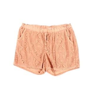 Jolt NEW Pink Size 16 Junior Drawstring Floral Lace Detail Shorts