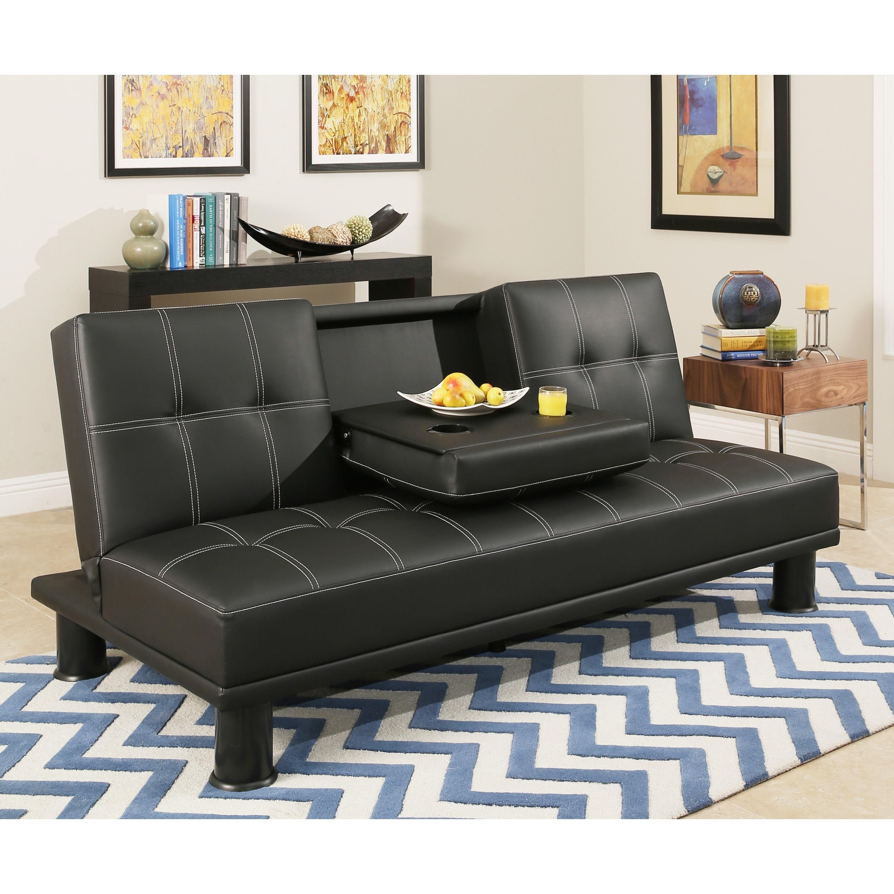 Abbyson Signature Convertible Futon Sofa Bed Overstock 18533820