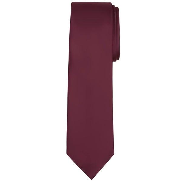 Jacob Alexander Mens Extra Long Solid Color Tie