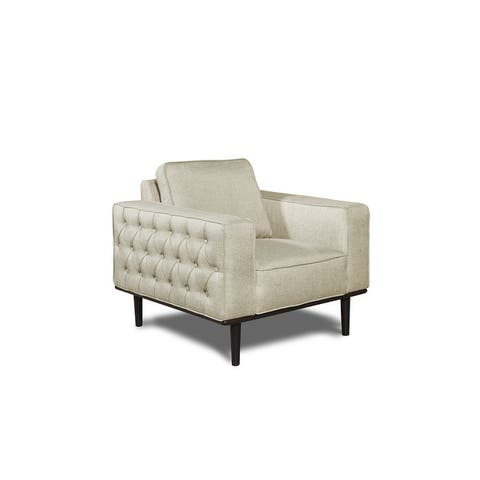 Rye Studio Bronx Upholstery Armchair with Button Tufted