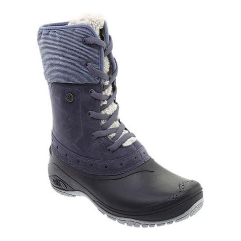 215b270f6 The North Face Women's Shellista Roll-Down Waterproof Boot Grisaille Grey/Weathered  Black