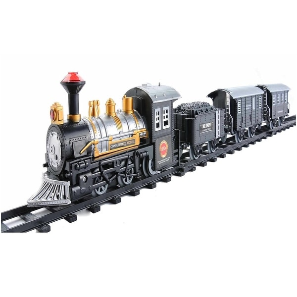 14-Piece Consumate Model Battery Operated Lighted and Animated Classic Train Set with Sound