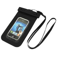 Waterproof Pool Pouch Bag Case Black for 4.5  Cell Phone w Neck Strap