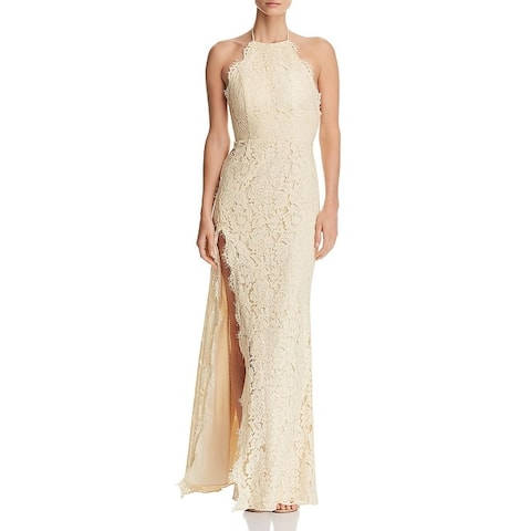 Fame And Partners Womens Evening Dress Formal Lace